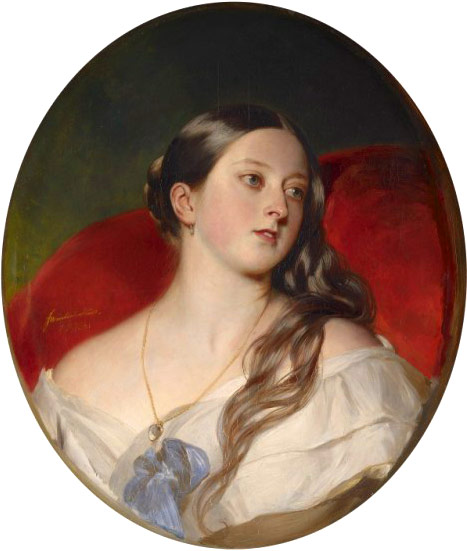 Queen Victoria 1843 portrait at 24 years old