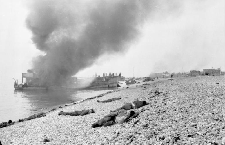 Dieppe dead and wounded
