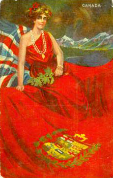 Miss Dominion of Canada on 1910 postcard