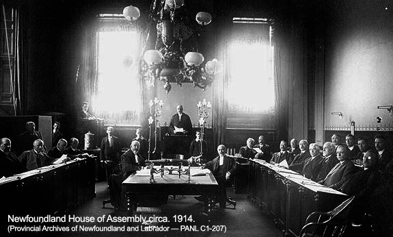 Newfoundland House of Assembly, circa 1914.
