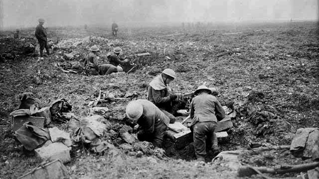 Machine gun crew at Vimy Ridge