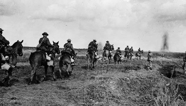 Canadian Light Horse going into action