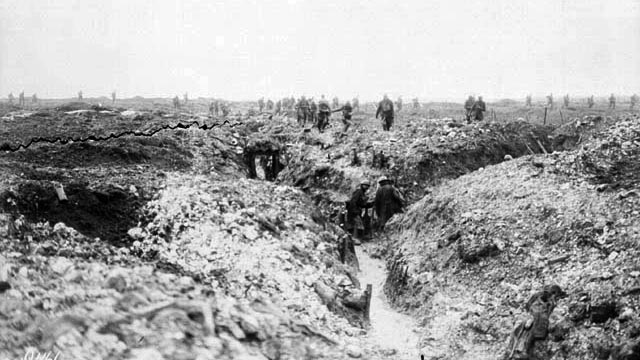 Canadians search German trenches at Vimy Ridge